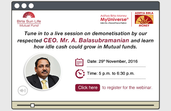 [LIVE] Session on Demonetization by CEO, Birla Sun Life Mutual Fund